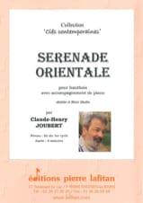 Claude-Henry Joubert - Sérénade Orientale - Partition - di-arezzo.fr