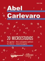 Abel Carlevaro - 20 Microestudios - Guitar - Sheet Music - di-arezzo.co.uk
