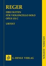 3 Suiten, opus 131c Max Reger Partition Violoncelle - laflutedepan.com