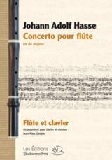 Johann Adolf Hasse - Concerto pour Flûte en Do Majeur - Partition - di-arezzo.fr