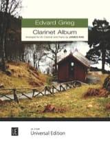 Grieg Clarinet Album Edvard Grieg Partition laflutedepan.com