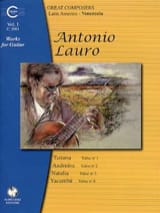Oeuvres pour Guitare, Volume 1 Antonio Lauro laflutedepan.com