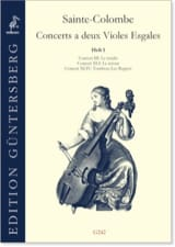 Colombe Jean De Sainte - Concerts with 2 equal violas - Volume 1 - Sheet Music - di-arezzo.com