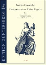 Colombe Jean De Sainte - Concerts with 2 violas of gamba - Volume 2 - Sheet Music - di-arezzo.com