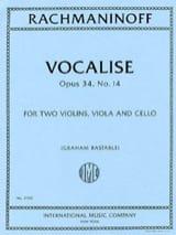 Serge Rachmaninov - Vocalise, opus 34 n° 14 - Quatuor à Cordes - Partition - di-arezzo.fr