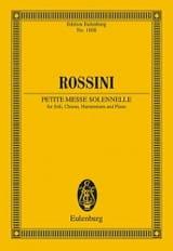 Petite Messe solennelle Gioacchino Rossini Partition laflutedepan.com