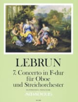 Ludwig August Lebrun - Concerto No. 7 in F major - Oboe and piano - Sheet Music - di-arezzo.co.uk