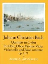 Johann Christian Bach - Quintette C-Dur op. 11 n° 1 - Partition - di-arezzo.fr