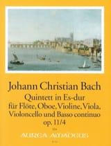 Johann Christian Bach - Quintette Es-Dur op 11 n° 4 - Partition - di-arezzo.fr