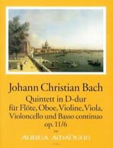 Johann Christian Bach - Quintette D-Dur op. 11 n° 6 - Partition - di-arezzo.fr