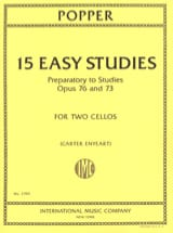 David Popper - 15 easy studies - 2 cellos - Sheet Music - di-arezzo.co.uk