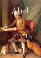 Carl Friedrich Abel - Trio N° 1 - 2 Flûtes et violoncelle - Partition - di-arezzo.fr