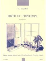 Hiver et printemps Henri Gagnebin Partition laflutedepan.com