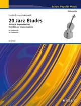 20 Jazz Etudes - Violoncelle - Lucio Franco Amanti - laflutedepan.com