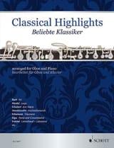 Classical Highlights - Hautbois et piano Partition laflutedepan.com
