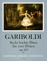 6 Leichte Duos, op. 145 - 2 Flûtes Giuseppe Gariboldi laflutedepan.com