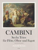 Giuseppe Maria Cambini - 6 Trios, op. 45 - Flûte, Hautbois et Basson - Partition - di-arezzo.fr