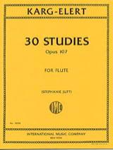 Sigfrid Karg-Elert - 30 Studies, Opus 107 - Flute - Sheet Music - di-arezzo.co.uk