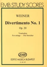 Leo Weiner - Divertimento n° 1 op. 20 - Partition - di-arezzo.fr