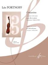 Concertino, opus 14 - Alto et piano Leo Portnoff laflutedepan.com