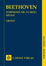 Ludwig van Beethoven - Symphonie n° 5 en ut mineur - Conducteur - Partition - di-arezzo.fr