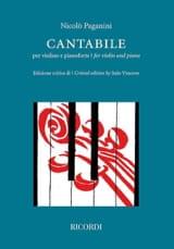 Niccolò Paganini - Cantabile - Violon et piano - Partition - di-arezzo.fr