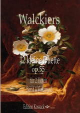 12 Petits Duos, op. 55 - Volume 2 Eugene Walckiers laflutedepan.com