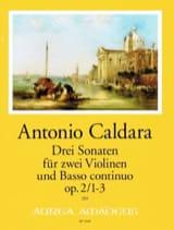 3 Sonates - 2 Violons et BC Antonio Caldara Partition laflutedepan.com
