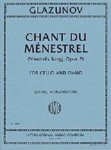 Alexandre Glazounov - Chant du Ménestrel, Op. 71 - Cello and Piano - Sheet Music - di-arezzo.com