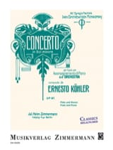 Ernesto KÖHLER - Concerto in G minor, op. 97 - Flute and piano - Sheet Music - di-arezzo.com