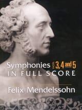Symphonies n° 3, 4 et 5 - Conducteur MENDELSSOHN laflutedepan.com