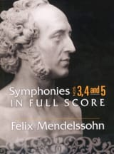 Symphonies n° 3, 4 et 5 - Conducteur - laflutedepan.com