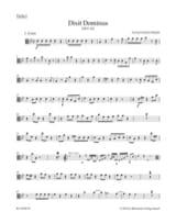 Dixit Dominus - Matériel d'Orchestre HAENDEL Partition laflutedepan