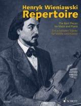 WIENIAWSKI - Wieniawski Repertoire - Violon et piano - Partition - di-arezzo.fr