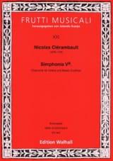 Louis Nicolas Clérambault - Sinfonía 5a. Chaconne - Violín y bajo continuo - Partitura - di-arezzo.es