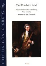 Carl Friedrich Abel - Zweite Pembroke-Sammlung 4 Duos for 2 cellos - Sheet Music - di-arezzo.com