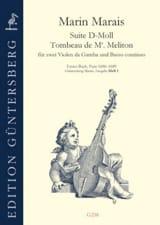 Suite en ré mineur / Tombeau de Mr Meliton - 2 violes de gambe et Basse continue laflutedepan.com