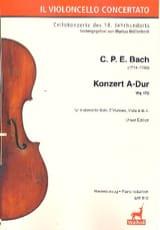 Carl Philipp Emanuel Bach - Konzert en Violoncello A-Hard Wq 172 - Klavierauszug - Partitura - di-arezzo.es