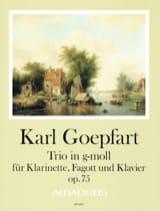 Trio, op. 75 - Clarinette, Basson et piano laflutedepan.com