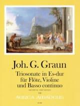 Johann Gottlieb Graun - Trio-Sonate en Mib Majeur - Flûte, violon et BC - Partition - di-arezzo.fr