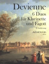 6 Duos - Clarinette et Basson Francois Devienne laflutedepan.com