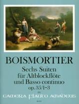 BOISMORTIER - 6 Suites, op. 35 Vol. 1 - Flûte à bec alto et BC - Partition - di-arezzo.fr