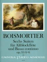 BOISMORTIER - 6 Suites, op. 35 (Vol. 2 - Flûte à bec alto et BC - Partition - di-arezzo.fr