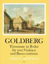 Johann Gottlieb Goldberg - Trio-Sonate en Sib Majeur - 2 Violons et BC - Partition - di-arezzo.fr