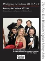 MOZART - Fantaisie en fa mineur, KV 594 - Quintette à vents - Partition - di-arezzo.fr
