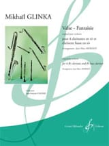 Valse - Fantaisie - 5 Clarinettes Michail Glinka laflutedepan.com