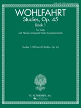 Franz Wohlfahrt - Studies, op. 45 Book 1 - Violin - Sheet Music - di-arezzo.co.uk