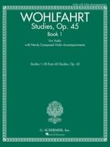 Franz Wohlfahrt - 研究、op。 45第1巻 - ヴァイオリン - 楽譜 - di-arezzo.jp