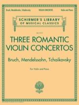 3 Romantic Violin Concertos - Violon et piano laflutedepan.com