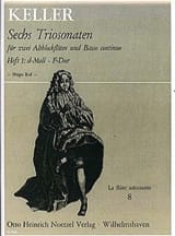 Gottfried Keller - 6 Triosonaten für 2 Altblockflöten und B.c., Bd 1 - Partition - di-arezzo.fr